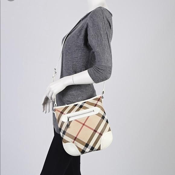 625e6e558a9b Burberry Handbags - Burberry Nova Check White Patent Leather Crossbody